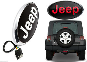 Reese Towpower 86533 Black Finish Jeep Lighted Hitch Cover New Free Shipping