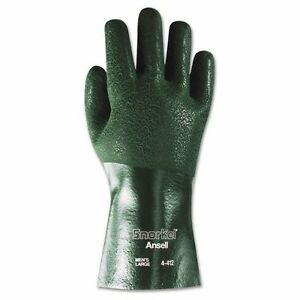 Ansell 441210 Snorkel Chemical resistant Gloves Size 10 Pvc nitrile Green 12