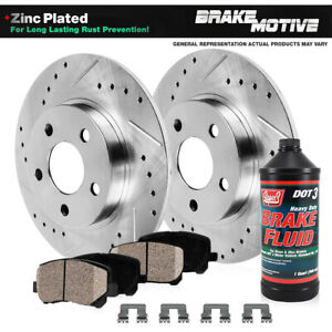 Rear Drilled Slotted Brake Rotors And Ceramic Pads 2005 2010 Honda Odyssey