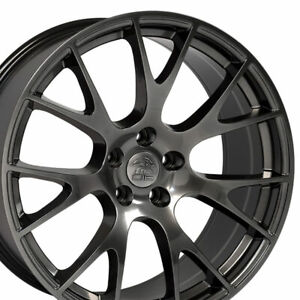 Oew 22 Rims Fit Dodge Ram 1500 Durango Dakota Aspen Hellcat Hyper Black