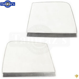 51 54 Chevy Pick Up Pickup Truck Door Window Glass W Track Guide Clear Pair