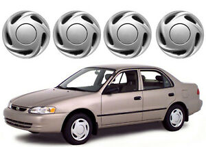4 14 Replacement Wheel Hub Caps For 1998 2000 Toyota Corolla New Free Ship