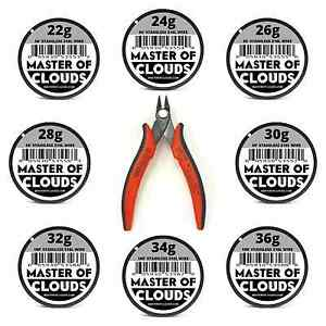 Wire Cutters W Mixed 550 Feet Of Ss 316l Wire 22 24 26 28 30 32 34 36 Gauge