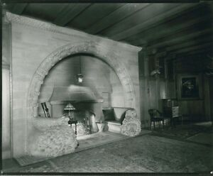 15th Century Medieval French Architectural Stone Fireplace W Carved Lions Arch