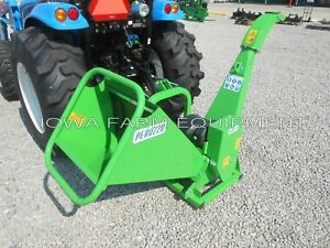 Drum Type Wood Chipper Tractor Pto 3 point Peruzzo Tb100 Chip 4 dia X 12 wide