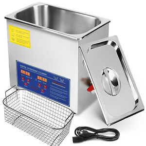 6l Digital Ultrasonic Cleaner Kit Ultra Sonic Bath Timer Jewellery Cleaning Tool
