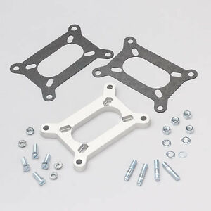 Carb Carburetor Adapter 2bbl To 2bbl Rochester Holley 2 Barrel W studs Gaskets