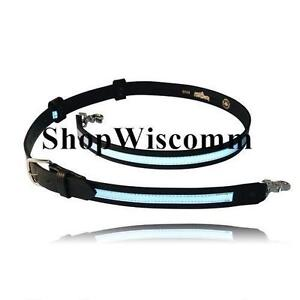 Boston Leather Firefighters 6543r 1 Radio Strap Reflective