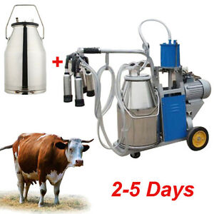 Electric Milking Machine For Farm Cows W bucket Piston 0 04 0 05mpa Hot
