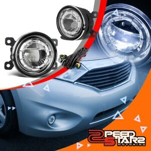 Chrome Lens 3 5 Round Bolt On Led Projector Bumper Driving Fog Light Lamp Switch