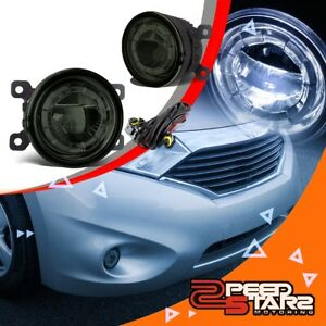 3 5 smoke Lens Round Replacement Led Projector Bumper Fog Light Lamps wire Kit