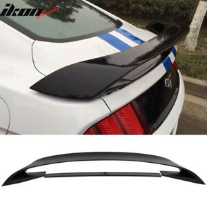 Fits 15 19 Mustang Gt350 Gt350r Style Abs Trunk Wing Matte Black Lower Spoiler