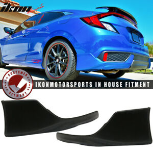Fits 16 18 Honda Civic Coupe 2dr Hfp Style Rear Bumper Lip Poly Urethane Pu