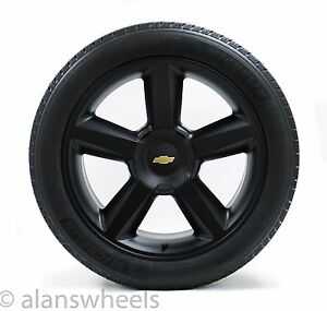 4 New Chevy Suburban Tahoe Ltz Matte Black Gbt 22 Wheels Rims Mich Tires 5308