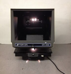 Topcon Ophthalmic Viewer Ov 200 Chart Projector Missing Screen