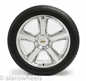 New Chevy Silverado Avalanche Gbt Chrome 22 Wheels Rims Michelin Tires 5308