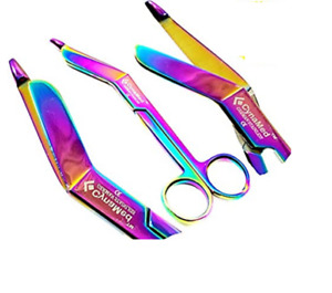 Lister Bandage Scissors 5 5 Multi Color Rainbow Miror Color Stainless Steel