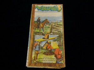 Vintage 1975 Official Wisconsin Highway State Road Map Wi