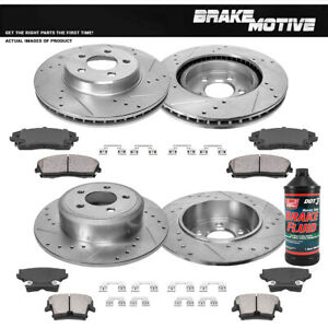 Front Rear Drill Slot Brake Rotors And Ceramic Pads For Charger Magnum 300