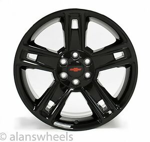 4 New Chevy Silverado Avalanche Red Bt Black 22 Wheels Rims Lugs Free Ship 5664