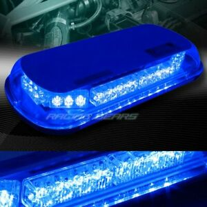34 Led Blue Truck Emergency Roof Top Hazard Warning Flash Strobe Light Universal