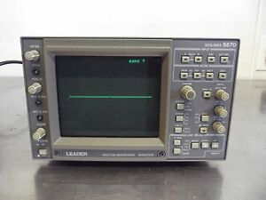 Leader Electronics Vector waveform Monitor 525lines 5870 powers Up s2611x