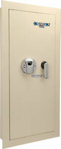 Barska Biometric Wall Safe W Fingerprint Lock Left Side Opening Ax12880
