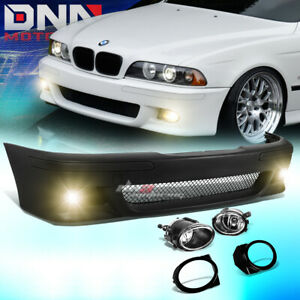 For 96 03 Bmw E39 5series M5 Style Abs Front Bumper Cover Body Kit Fog Light