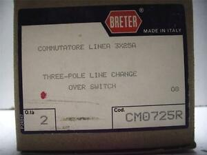 New Nib Qty Breter Box Of 2 Cm0725r Three pole Line Change Over Switch