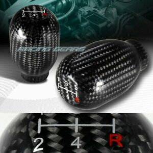 Type R Real Carbon Fiber 5 Speed Manual Stick Gear Shifter Shift Knob Universal