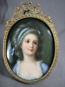Antique German Painted Porcelain Old Portrait Plaque Signed Wagner Kpm Style Mhr