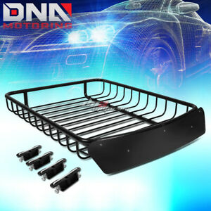 51 x 40 roof Rack Top Cargo Baggage Carrier Basket wind Fairing deflector Black