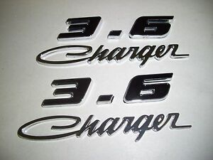 Dodge Charger 3 6l 6 Cyl Charger Script Fender Hood Trunk Emblems Set New Black