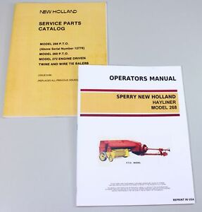Set Sperry New Holland 268 Hayliner Baler Owners Operators Parts Manual Catalog