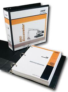 Case 980 Excavator Service Technical Manual Repair Shop Binder Crawler Track Hoe