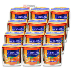 X12 My Shaldan Orange Scent Car office home Japan Refresh Air Freshener 80g Can