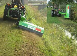 Flail Ditch Bank Side Trim Verge Mower Peruzzo Fox Cross 1600 60 cut 30 50hp