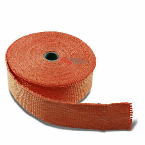 10m 393 2 Width Car Bike Exhaust Manifold Header Down Pipe Orange Heat Wrap