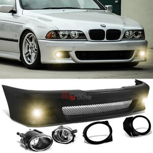 For 96 03 Bmw E39 5 Series M5 M Sport Style Front Bumper Grille Cover Fog Light