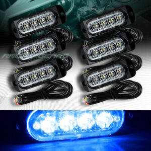 24 Led Car Truck Emergency Beacon Hazard Warning Flash Strobe Light Bar Blue