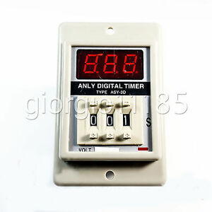 Us Stock Asy 3d 1 999s Dc24v Power On Delay Timer Digital Time Relay 8p W Base