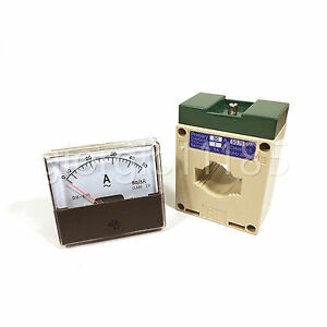 Us Stock Analog Panel Amp Current Meter Gauge Dh670 50a Ac Current Transformer