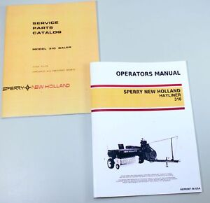 Set Sperry New Holland 310 Hayliner Baler Owners Operators Parts Manual Catalog