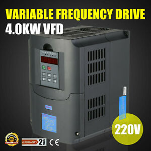 5hp 4kw Variable Frequency Drive Vfd Low output 3 Phase 220v 250v Single Speed