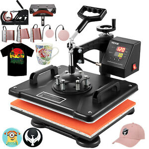8in1 Digital Heat Press Machine Sublimation For T shirt mug plate Cap Printer