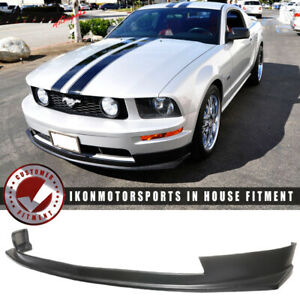 Fits 05 09 Ford Mustang V8 2dr Type Sport Front Bumper Lip Spoiler Urethane Pu