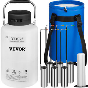 3l Liquid Nitrogen Container Ln2 Tank Dewar Light Weight Cryogenic Vaccines