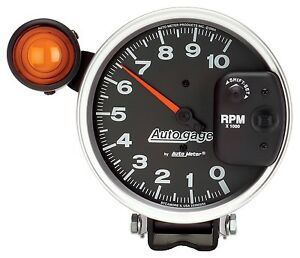 Auto Meter 233904 5 Auto Gage Monster Tach W Shift Lite 10000 Rpm