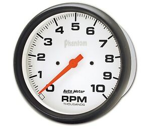Auto Meter 5898 5 Phantom In dash Tach 10k Rpm