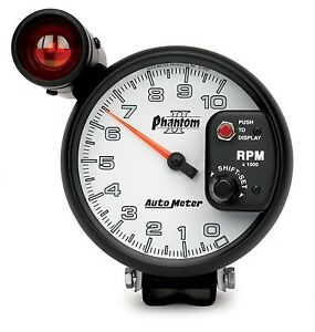 Auto Meter 7599 5 P s Ii Shift Light Tach 10k Rpm